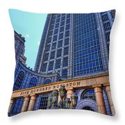 Five Hundred Boylston - Boston Architecture Throw Pillow by Julia Springer