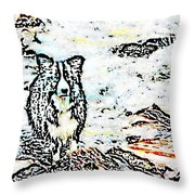 Fizz In The Blend  Throw Pillow by Vicky  Hutton