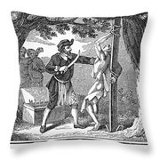 Flaying Of Christian Throw Pillow by Granger