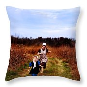 Flight of the Innocent Throw Pillow by Stephanie Frey