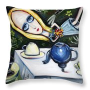 Floating Above It All Throw Pillow by Leanne Wilkes