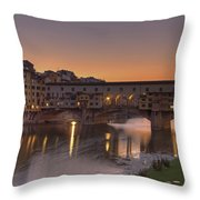 Florence - Ponte Vecchio Throw Pillow by Joana Kruse