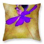 Flower Take Flight Throw Pillow by Judi Bagwell