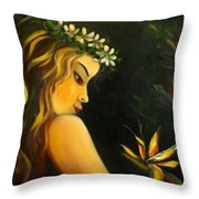 Flowers Of Paradise Throw Pillow by Gina De Gorna