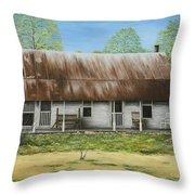Floyd Arkansas' Oldest House Throw Pillow by Mary Ann King