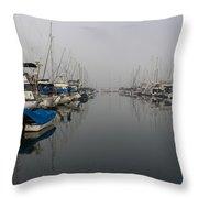 Foggy Morn Throw Pillow by Heidi Smith
