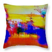Folklorico 1 Throw Pillow by Randall Weidner