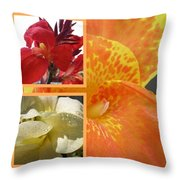 For The Love Of A Canna Throw Pillow by Sandi Floyd