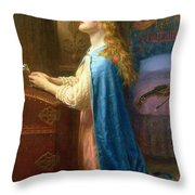 'Forget me Not' Throw Pillow by Arthur Hughes