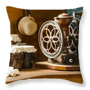 Forgotten Kitchen of Yesteryear Throw Pillow by Carolyn Marshall