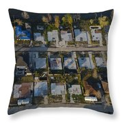 Foundation Slabs Where Flooded Houses Throw Pillow by Tyrone Turner