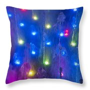 Fountain Of Color Throw Pillow by John Greim