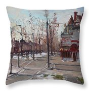 Four Corners At Bidwell Parkway Throw Pillow by Ylli Haruni