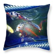 Framed Coy  Throw Pillow by Mauro Celotti
