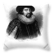 Francis Bacon (1561-1626) Throw Pillow by Granger