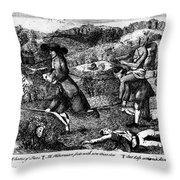 Franklin: Cartoon, 1764 Throw Pillow by Granger