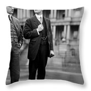 Franklin Delano Roosevelt As A Young Man - C 1913 Throw Pillow by International  Images