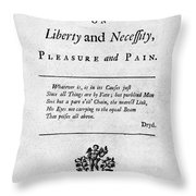 Franklin: Title Page, 1725 Throw Pillow by Granger