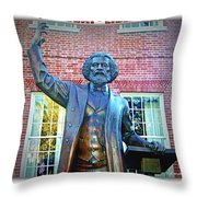 Frederick Douglass Throw Pillow by Brian Wallace