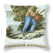 Frederick Douglass Throw Pillow by Granger