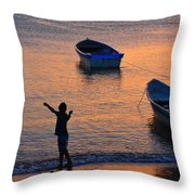 Free Spirit Throw Pillow by Skip Hunt