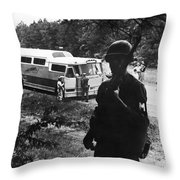 Freedom Riders, 1961 Throw Pillow by Granger