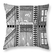 FREIGHT ELEVATOR, 1876 Throw Pillow by Granger
