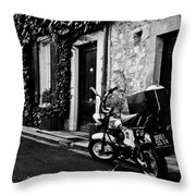 French Street Throw Pillow by Georgia Fowler