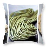 Fresh Tagliolini Pasta Throw Pillow by Elena Elisseeva