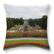 Frogner Park Throw Pillow by Carol Groenen