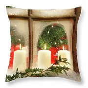 Frosted Window Throw Pillow by Sandra Cunningham