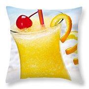 Frozen Tropical Orange Drink Throw Pillow by Elena Elisseeva