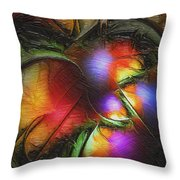 Fruit Of The Forest Throw Pillow by Amanda Moore