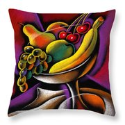Fruits Throw Pillow by Leon Zernitsky