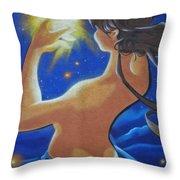 Galaxie ... Throw Pillow by Juergen Weiss