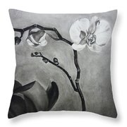 Galen's Orchid Throw Pillow by Estephy Sabin Figueroa