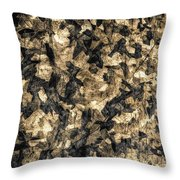 Galvanized Throw Pillow by Michael Garyet