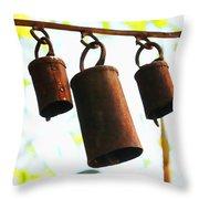 Garden Noah Bells 2 Throw Pillow by Cheryl Young