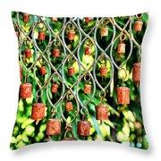 Garden Noah Bells Throw Pillow by Cheryl Young