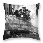 Gatling Gun, 1878 Throw Pillow by Granger
