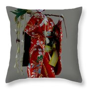 Geisha Elegance Throw Pillow by Al Bourassa