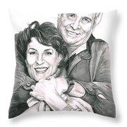 Gene And Majel Roddenberry Throw Pillow by Murphy Elliott