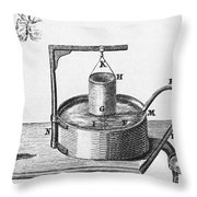 Generation Of Carbon Dioxide Throw Pillow by Photo Researchers