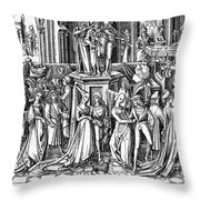 GERMANY: MEDIEVAL BALL Throw Pillow by Granger