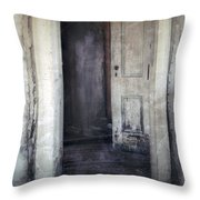 Ghost Girl in Hall Throw Pillow by Jill Battaglia
