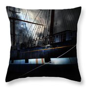 Ghost Ship of The San Francisco Bay . 7D14153 Throw Pillow by Wingsdomain Art and Photography