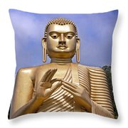 Giant gold Bhudda Throw Pillow by Jane Rix