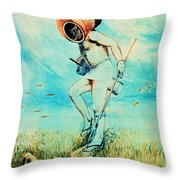 Giovanni Borelli Underwater Throw Pillow by Science Source