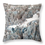 Glacial Crevasses Throw Pillow by Mike Reid