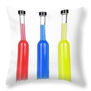 Glass Bottles Throw Pillow by Joana Kruse